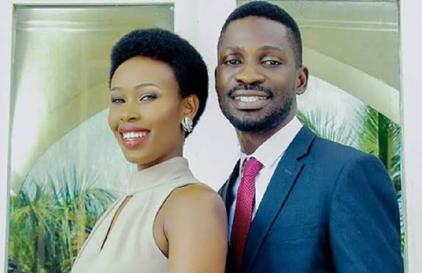 Bobi Wine's wife spotted at airport, seeks refuge in USA?