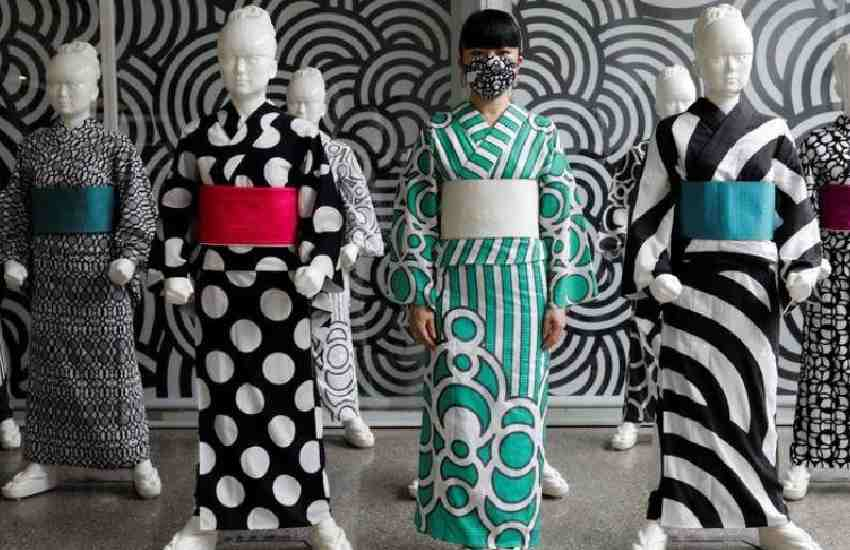 Coronavirus crisis threatens to unravel Japanese artist's kimono ambitions