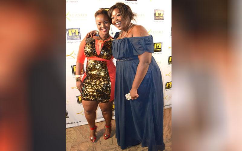 Actress Susan Kamau and Actress Nelly Muttai
