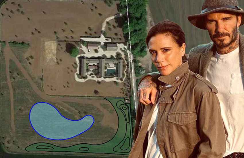 David, Victoria Beckham at war with neighbours over plans to enlarge lake
