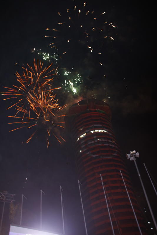 ABSA Launch ad fireworks at KICC