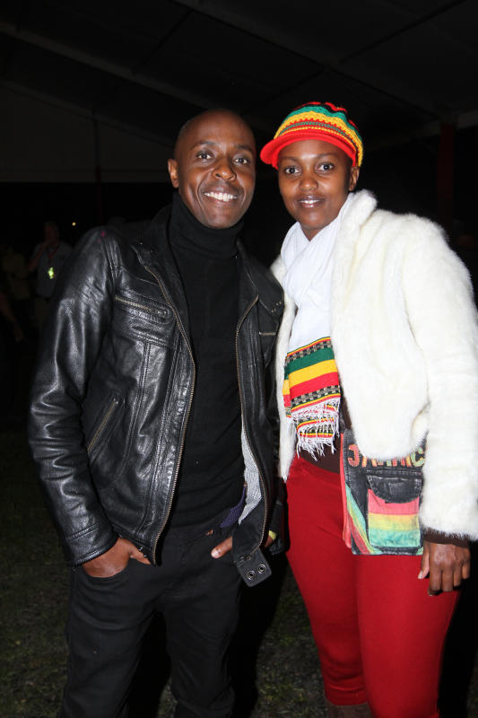 Dj Pinye and Naibuto Thimba during the UB 40's 'Real Labour of Love' tour concert at the Carnivore grounds .[Elvis Ogina,Standard]