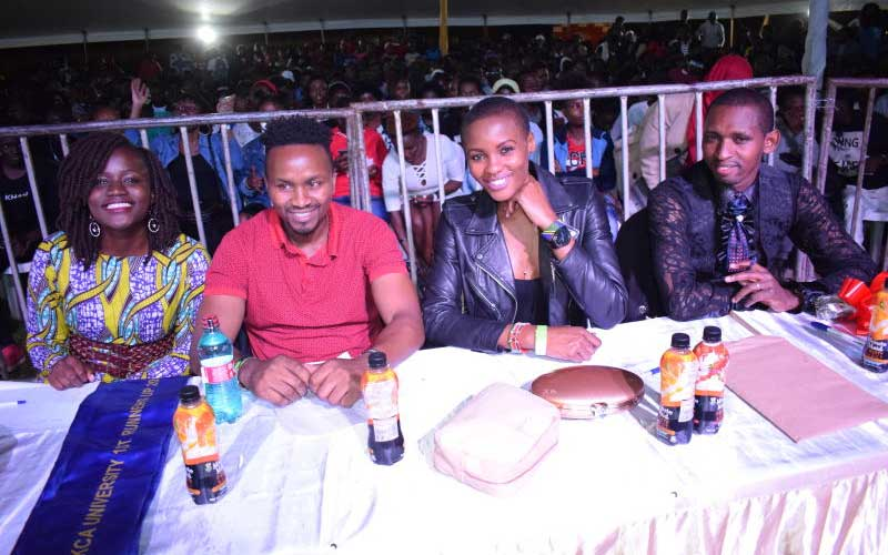 Judges Sarah Masese,Patrick,Delia Ipupa and Steven
