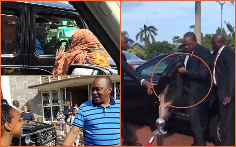 Five times President Uhuru Kenyatta has been spotted driving without his entourage