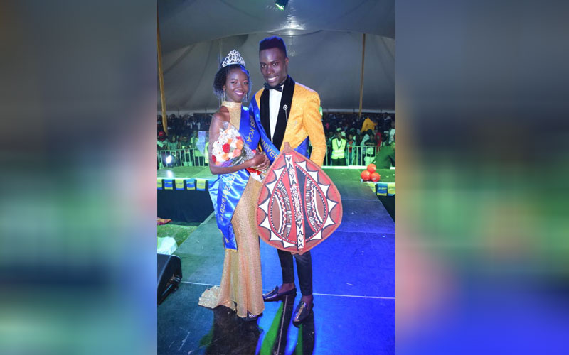 Winners of Mr. and Miss KCA University's Brian Odh