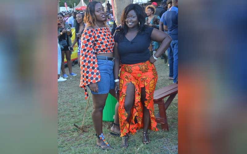 Eugenia yuyu and Yvonne Longisha at the Koroga Fes