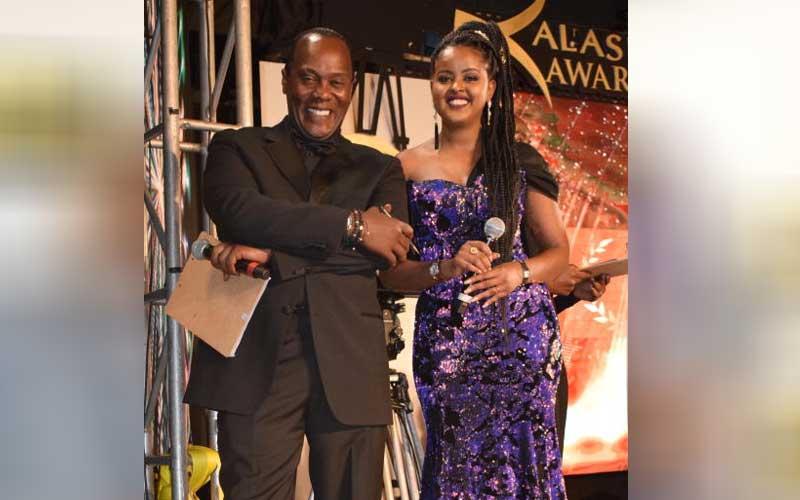 Jeff Koinange with Amina Abdi