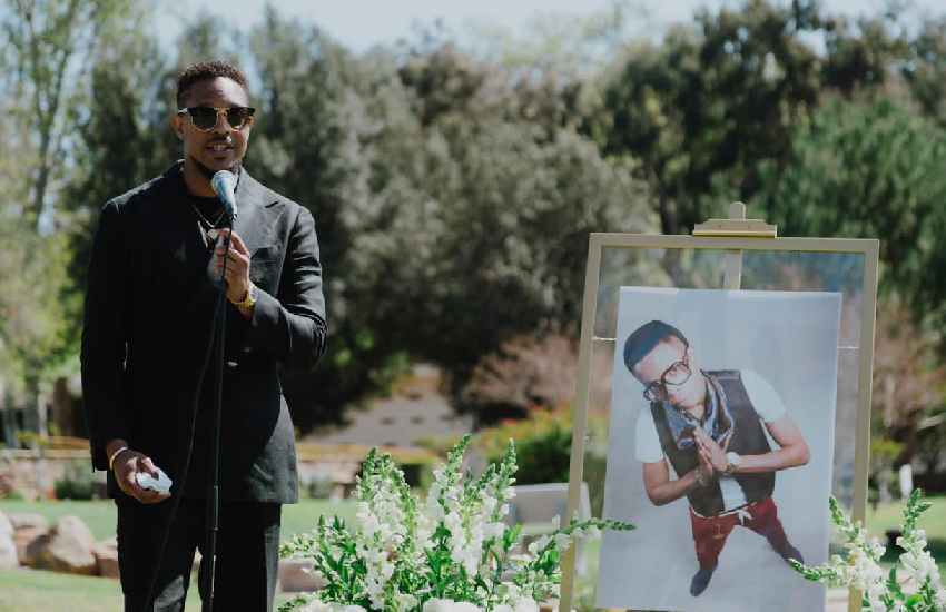 In pictures: Christian Longomba laid to rest