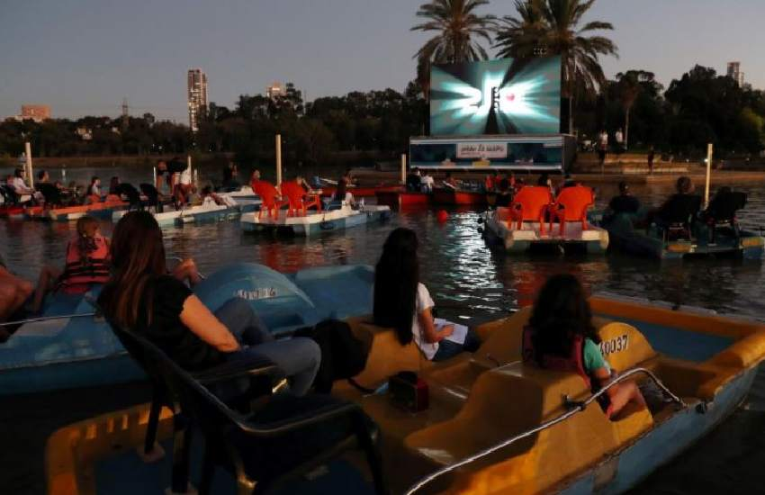Israel opens floating cinema for coronavirus-safe viewing