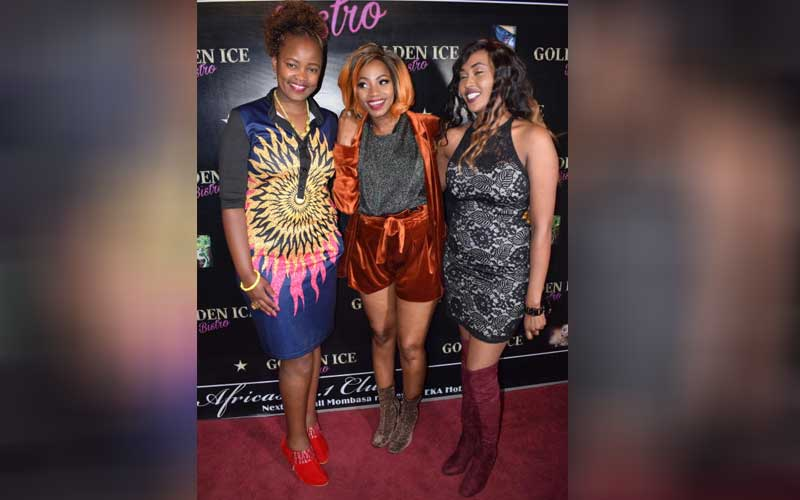 Cate Kirwa with Ugandan music artist Sheebah and f