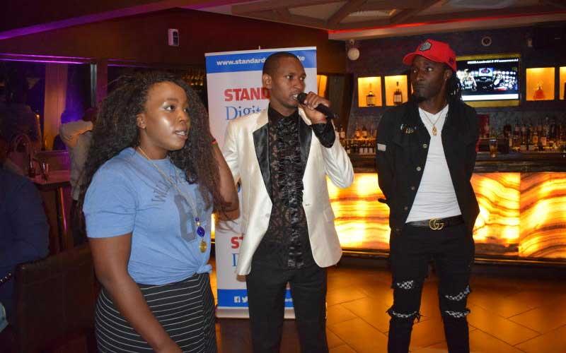 PMVA judges Grace Kahaki, Stevens Muendo and DJ Sa
