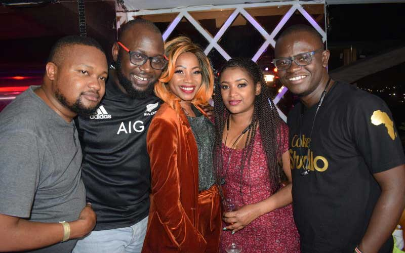 Ugandan Artist Sheebah with fans