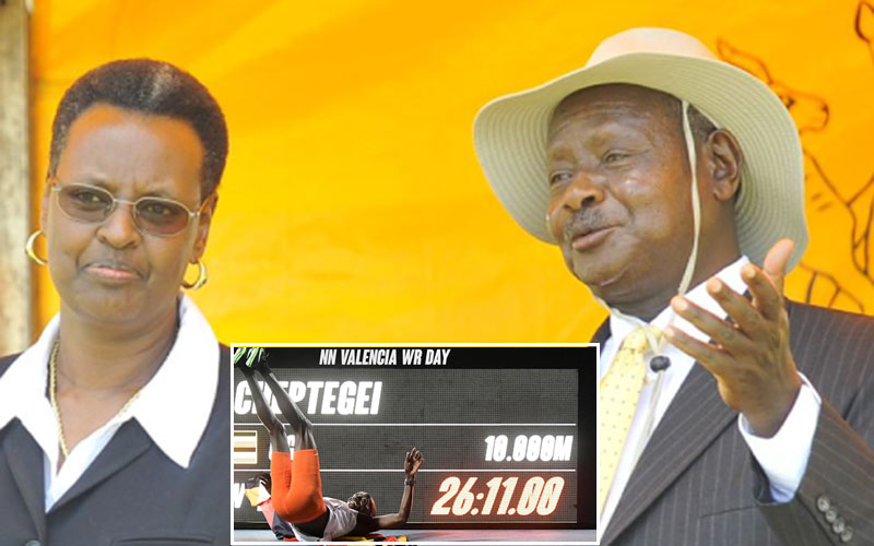 Museveni attributes Joshua Cheptegei's world record to First Lady