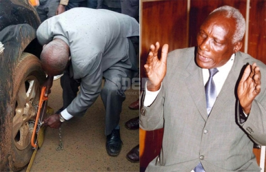 Mzee politician unclamps his Sh12 million Lexus with a hacksaw