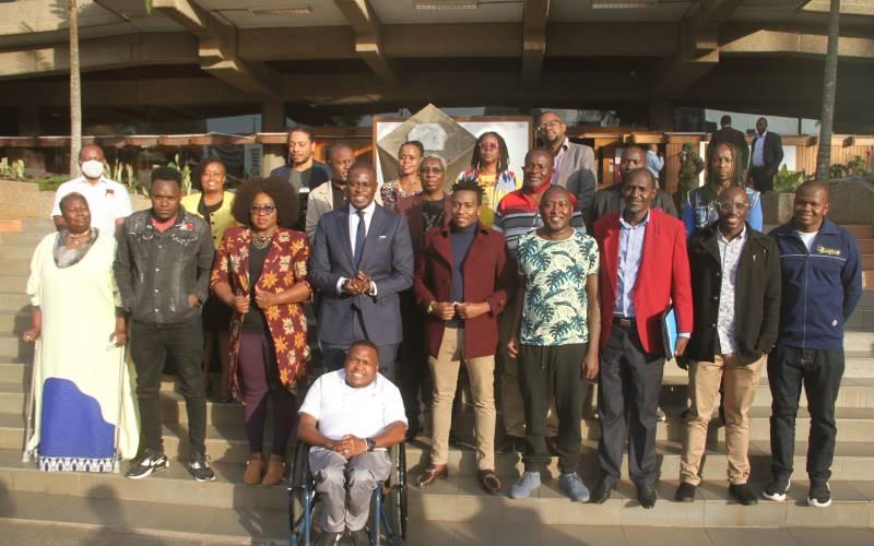 Nairobi Senator Sakaja meets the Creative Society of Kenya
