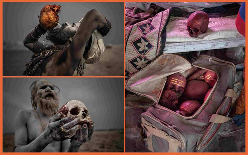 PHOTOS: Inside sect where men drink from skulls and eat human flesh