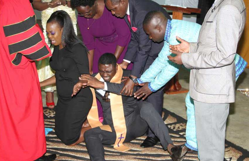 PHOTOS: Ruth Matete's hubby overwhelmed during ordination