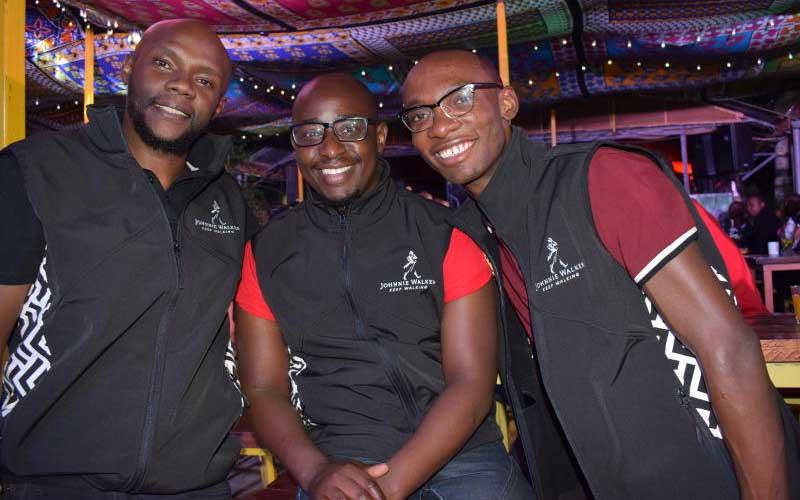 Mixologist Kariuki ,Patrick Githinji and Comedian