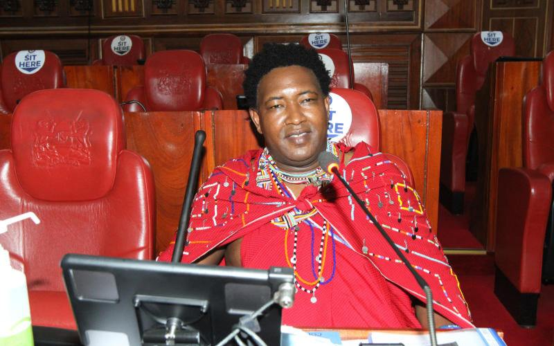 Senator Ledama Ole Kina in studio recording Maasai 'hip-hop'