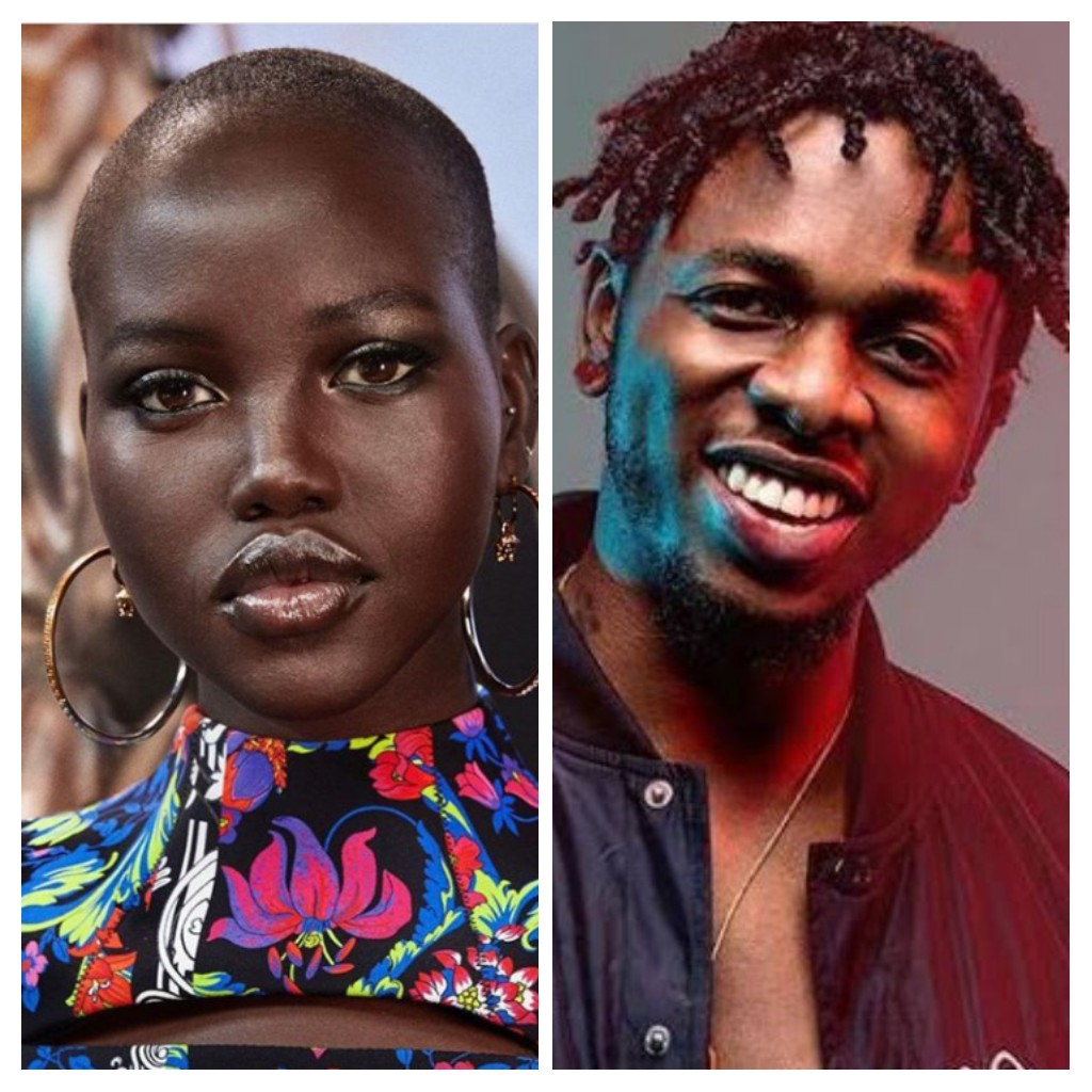 Singer Runtown and model Adut Akech celebrate his birthday in Greece