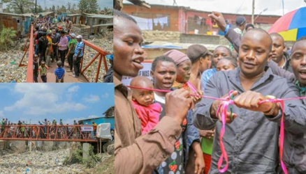 Singer Jaguar gifts slum residents with bridge