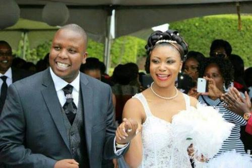 Laura Akunga and Mark Mwenje on their wedding day