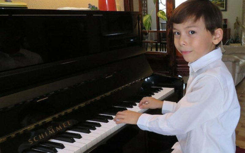 Super-talented six-year-old pianist whose skills have stunned his teacher