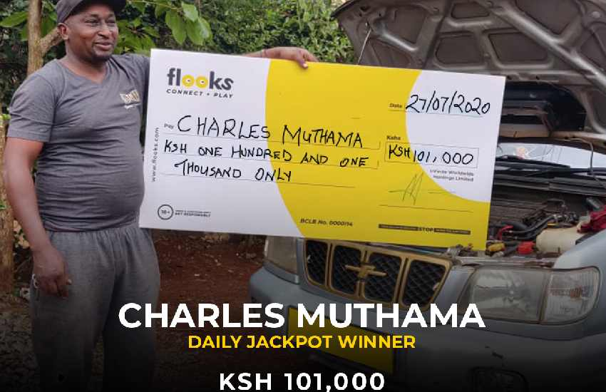 Thogoto man wins Sh101, 000 with Flooks Betting Company; the home jackpots and kings of bonuses