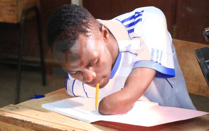 Armless pupil who writes with mouth gets 311 marks in KCPE