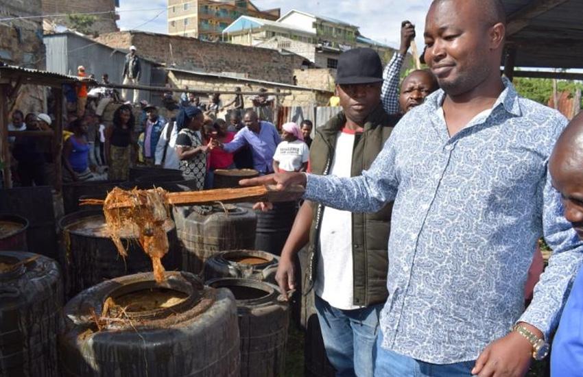 Exposed: Dead lizards, panties used to 'cook' chang'aa in Embakasi