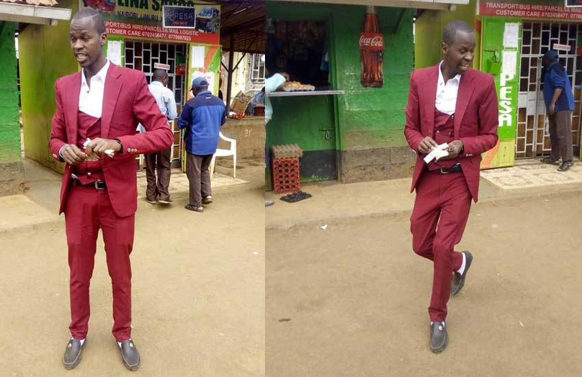 Sh72,000 collection: Meet tout who has worn a suit every day for three years