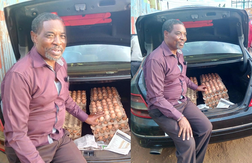 Meet man who sells eggs from Mercedes, employs masters students to hawk 'mayai'