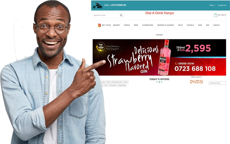 In Nairobi? Dial A Drink will bring your drink minus the delivery fee