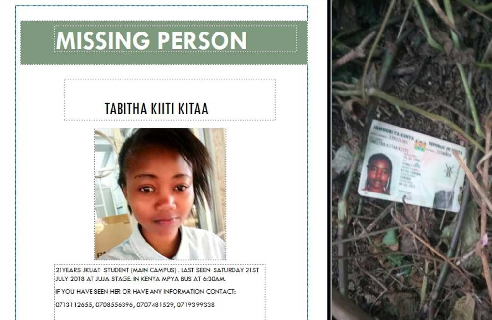 JKUAT student murdered, body dumped near college gate