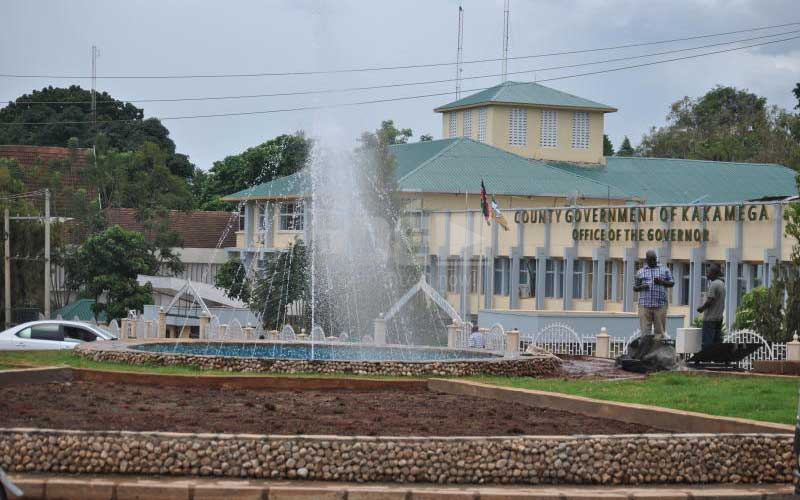 Kakamega youth 'making love' at new fountain