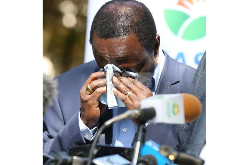 Kalonzo wept: NASA leader's unity after no-show at Raila's swearing in?