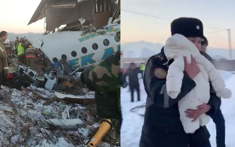 Kazakhstan plane crash: Baby rescued alive from wreckage