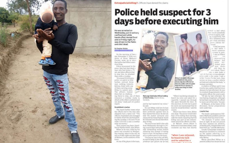 Makueni: 'The Standard' journalist fears for his life after story on police execution