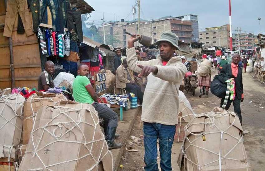 Meet chief bell ringer of Nairobi's 'Soko Mjinga' market