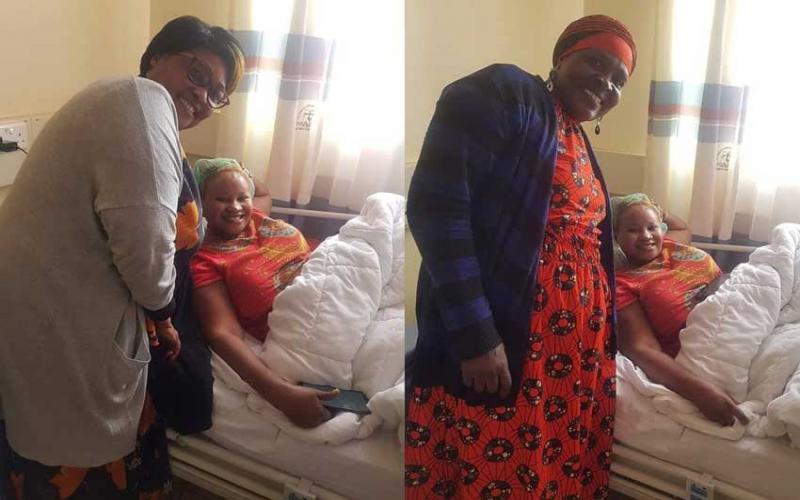 PHOTOS: 'Vitimbi' crew visit Nyasuguta in hospital