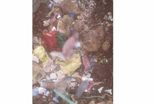 Pipeline residents find dead infant dumped near flats