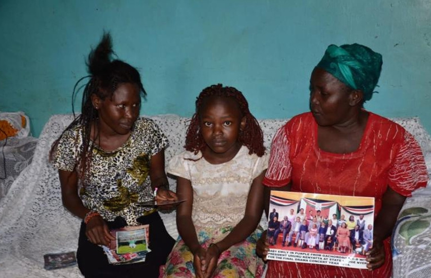President Uhuru's 'little girl' living in poverty