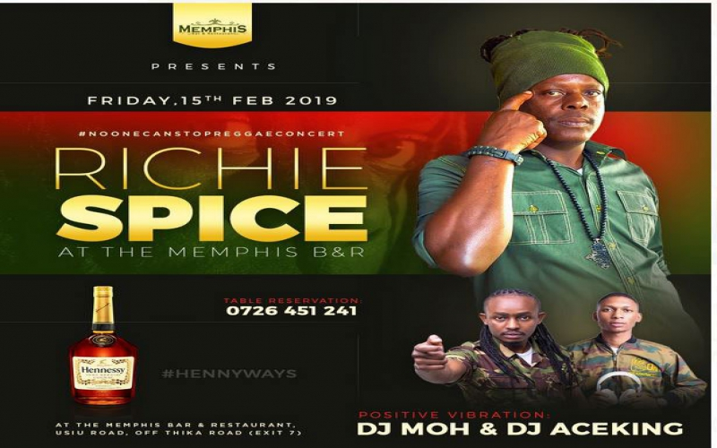 Richie Spice meet and greet happening at Mempis Lounge today