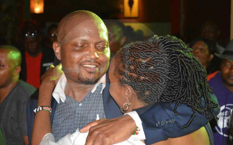 Three tipsy women fight over Moses Kuria at Carnivore