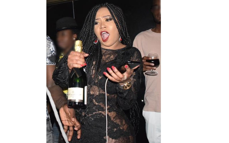 Vera parties hard after break-up with Otile Brown