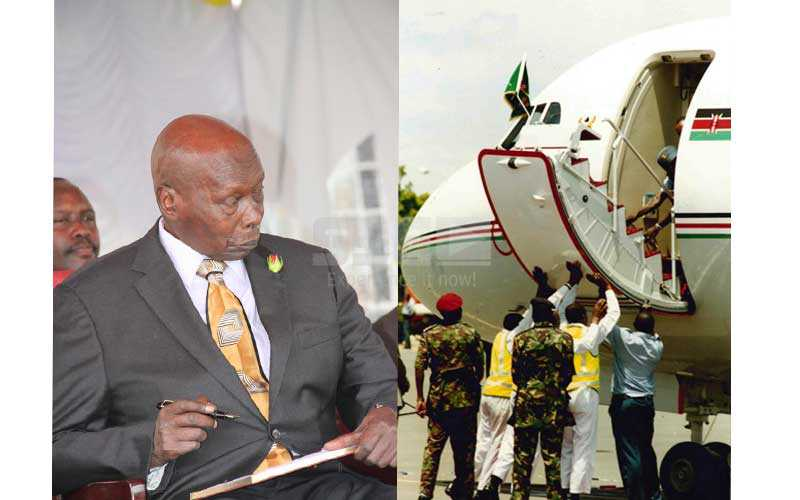 When retired President Moi's jet stalled at JKIA