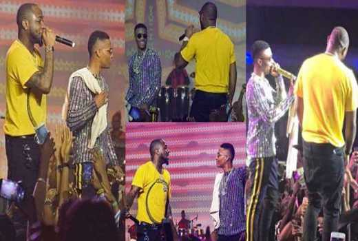 Wizkid and Davido finally share a stage after their nasty fight in Dubai