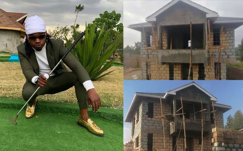 Timmy Tdat flaunts the mansion he's building