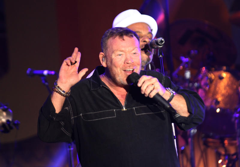 UB 40 duo Ali Campbell and Astro during the UB 40's 'Real Labour of Love' tour concert at the Carnivore grounds .[Elvis Ogina,Standard]