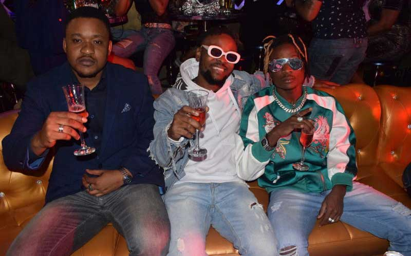 Manager Augusto with Music artist Laylizzy and Fik